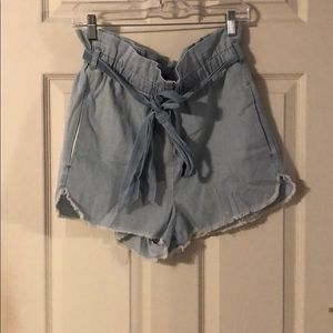 NWT Extreme high rise paper bag style shorts